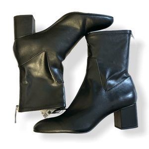 ZARA - leather boots with blocked heels